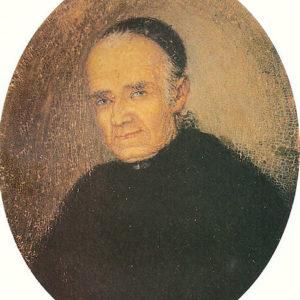 Retrato del Deán Bencomo (atribuido por Pedro Tarquis Rodríguez). Óleo sobre soporte oval. 5,6x4,5 cm.