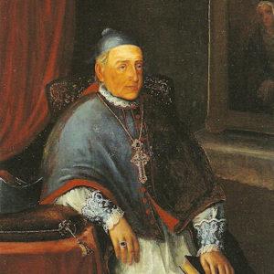 Retrato del Obispo Luis Folgueras Sión. Salas Capitulares Catedral de La Laguna. Tenerife.