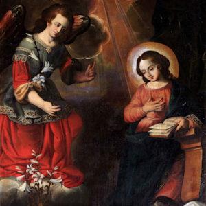 Anunciación. Iglesia de Santa Catalina Mártir. Tacoronte (Tenerife).