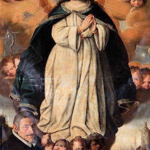 Inmaculada Concepción con Felipe Machado. Iglesia de Santa Catalina Mártir. Tacoronte (Tenerife)