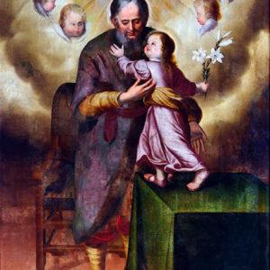 San José con el Niño. Iglesia de Nuestra Señora de la Concepción. Los Realejos (Tenerife).