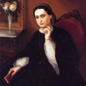 Retrato de doña Enilia Ravina y Castro (Nicolás Alfaro y Brieva)|Óleo sobre lienzo. 105 x 77 cm. Colección particular. La Laguna (Tenerife)