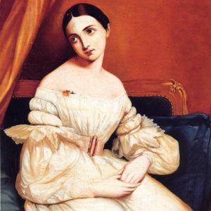 retrato femenino (Nicolás Alfaro y Brieva)|Óleo sibre lienzo. 44 x 35 cm. Colección particular. Santa Cruz de Tenerife