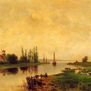Rincón holandés (Nicolás Alfaro y Brieva)|Óleo sobre lienzo. 68 x 110. Museo Municipal de Bellas Artes. Santa Cruz de Tenerife