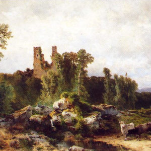 Ruinas del castillo de Vilarromans (Nicolás Alfaro y Brieva)|Óleo sobre lienzo. 102 x 83 cm. Museo Municipal de Bellas Artes. Santa Cruz de Tenerife