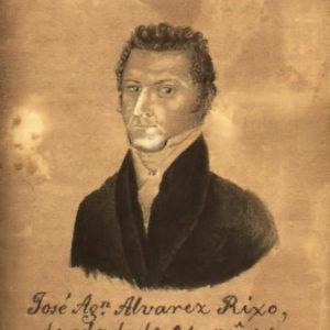 Autorretrato a la edad de 24 años.|C.1820. Dibujo a plumilla. Colección particular. Puerto de la Cruz. Tenerife