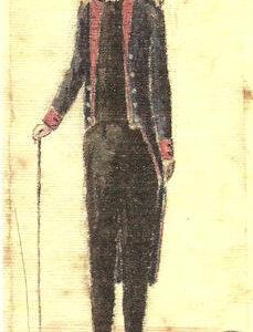 Retrato del Capitán Cabrera.|1846-1866. Dibujo a la aguada. Ilustración del manuscrito de la Historia del Puerto del Arrecife
