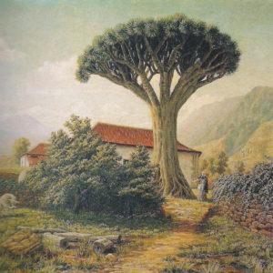 Casa con drago.|Óleo sobre lienzo. 39x50 cm. Colección particular. Madrid
