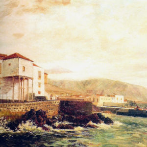 El muelle.|Óleo sobre lienzo. 30x44 cm. Colección particular. Puerto de la Cruz (Tenerife)