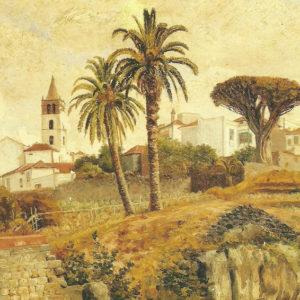 Vista de Icod|Óleo sobre lienzo. 24x43 cm. Colección particular. Santa Cruz de Tenerife