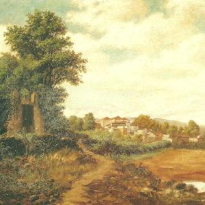Vista de la Orotava.|Óleo sobre lienzo. 61x86 cm. Colección particular. Puerto de la Cruz (Tenerife)