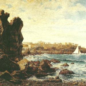 Vista de San Telmo.|Óleo sobre lienzo. 63x87,5 cm. Colección particular. Adeje (Tenerife)