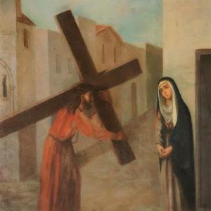 Encuentro de Jesús y María.|Óleo sobre lienzo. 78,5x60 cm. Iglesia de la Concepción. La Laguna, Tenerife
