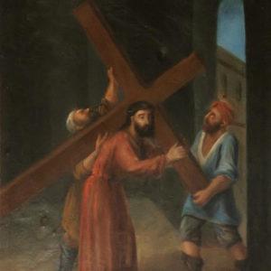 Jesús con la Cruz a cuesta.|Óleo sobre lienzo. 78,5x60 cm. Iglesia de la Concepción. La Laguna, Tenerife