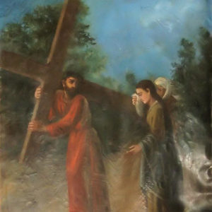 Jesús consuela a las piadosas mujeres.|Óleo sobre lienzo. 78,5x60 cm. Iglesia de la Concepción. Las Laguna, Tenerife