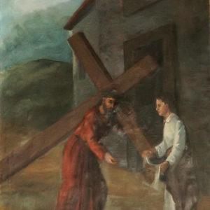 La Verónica limpia el rostro de Jesús.|Óleo sobre lienzo. 78,5x60 cm. Iglesia de la Concepción. La Laguna, Tenerife
