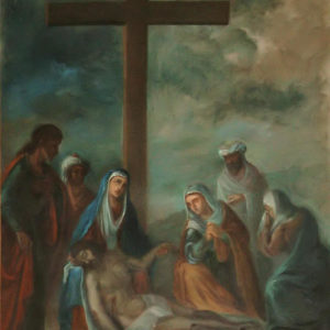 La Virgen sostiene en sus brazos el cuerpo exánime de Cristo.|Óleo sobre lienzo. 78,5x60 cm Iglesia de la Concepción. La Laguna, Tenerife