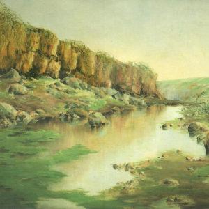 Barranco del drago.|Ca. 1904. Óleo sobre lienzo. 94x128 cm. Museo Municipal de Bellas Artes. Santa Cruz de Tenerife