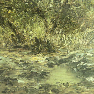 Paisaje.|Ca. 1913-1915. Óleo sobre tela. 23x30 cm. Excmo. Cabildo Insular de Gran Canaria