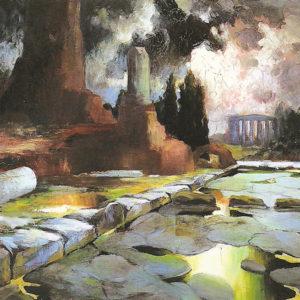 Ruinas de Pompeya o Vía Apia.|Ca. 1905-1907. Óleo sobre lienzo. 100x126 cm. Museo Municipal de Bellas Artes. Santa Cruz de Tenerife