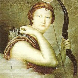 La Infanta Luisa Carlota. Diana Cazadora.|Real Academia Canaria de Bellas Artes (RACBA). Santa Cruz de Tenerife. *|Obra de Luis de la Cruz