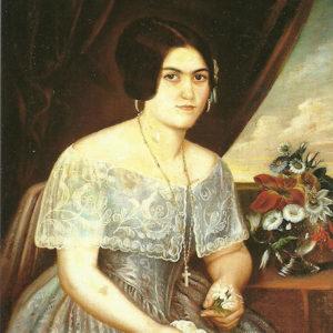 Doña Dolores de Lugo Eduardo|C. 1850. Óleo sobre lienzo. 86,5x69,5 cm. Colección particular. Las Palmas de Gran Canaria