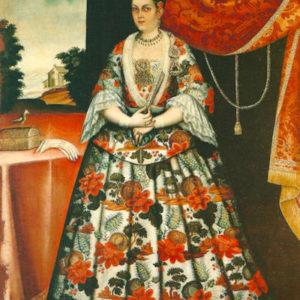 María Ana Vélez del Hoyo. Óleo sobre lienzo. 215x145 cm. Colección particular. Las Palmas de Gran Canaria (Gran Canaria).
