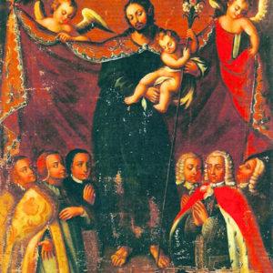 Patrocinio de San José. Óleo sobre lienzo. Iglesia de San Francisco. Santa Cruz de La Palma (La Palma).