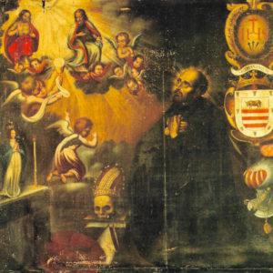 San Francisco de Borja. Óleo sobre lienzo. 300x174 cm. Iglesia de San Juan. Telde (Gran Canaria).