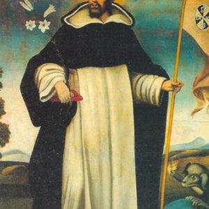 Santo Domingo de Guzmán. Óleo sobre lienzo. 116x86 cm. Ermita de Nuestra Señora de los Dolores. El Hoyo, Mazo (La Palma).