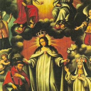 Virgen de la Merced. Óleo sobre lienzo. Iglesia de Santo Domingo. Santa Cruz de La Palma (La Palma).