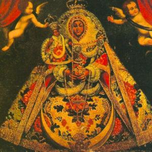 Virgen de las Nieves. Óleo sobre lienzo. 155x122 cm. Iglesia de San Blas. Mazo (La Palma).