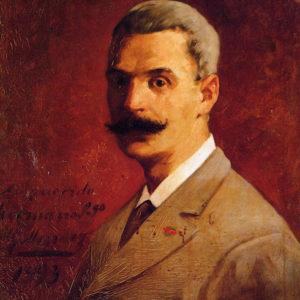 Autorretrato.|Óleo sobre lienzo. 56x46 cm. Colección particular. Güimar (Tenerife)