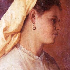 Campesina.|Óleo sobre lienzo. 65x48 cm. Colección particular. Santa Cruz de La Palma