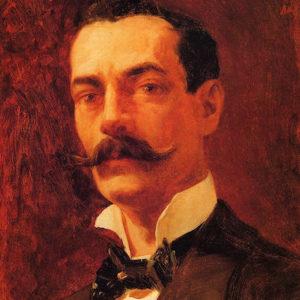 El pintor Teodomiro Robayna Marrero (1864-1925).|Óleo sobre lienzo. 46x36 cm. Colección particular. Santa Cruz de Tenerife