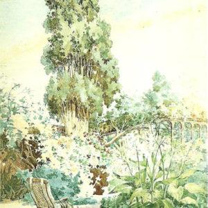 Jardín del Puerto de la Cruz.|Acuarela. 45x30 cm. Colección particular. Santa Cruz de la Palma