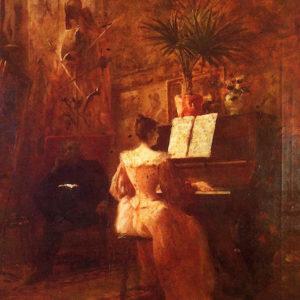 Una sonata.|Óleo sobre lienzo. 72x52 cm. Colección particular. Santa Cruz de La Palma