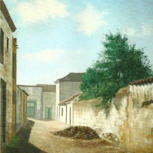 Calle de La Laguna.|1900. Óleo sobre lienzo. 71x60cm. Colección particular. Puerto de la Cruz (Tenerife)
