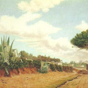Paisaje de La Laguna.|Óleo sobre lienzo, 107x158 cm. Museo Municipal de Bellas Artes. Santa Cruz de Tenerife