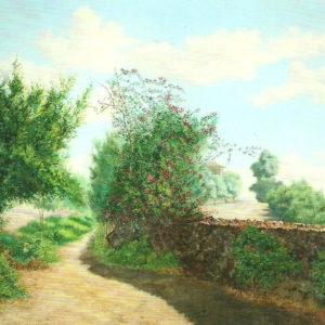 Paisaje de Santa Cruz.|1901. Óleo sobre lienzo. 96x130 cm. Colección particular. Puerto de la Cruz (Tenerife)