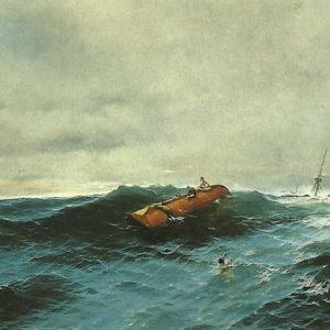 Barca volcada. 1898. Óleo sobre lienzo. 100x150 cm. Museo Municipal de Bellas Artes de Santa Cruz de Tenerife.