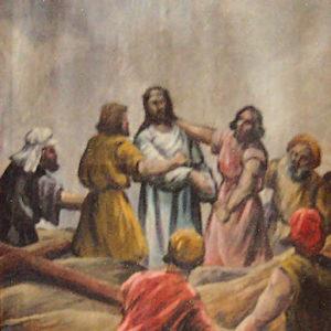 Décima Estación: Jesús es despojado de sus vestidos. Iglesia de San Marcos de Icod. Tenerife.