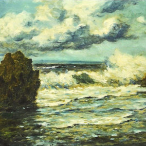 Marina. Óleo sobre lienzo. 80x131 cm. Colección particular. Santa Cruz de Tenerife.