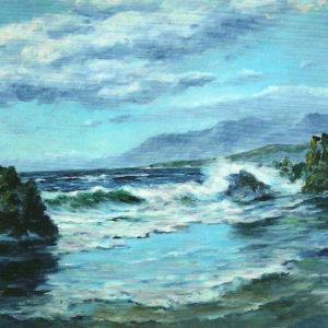 Marina. Óleo sobre lienzo. 94x128 cm. Colección Hotel Botánico. Puerto de la Cruz. Tenerife.