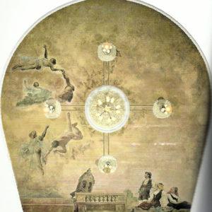 Pintura mural del techo del Teatro Leal. 1915. Teatro Leal. La Laguna. Tenerife.