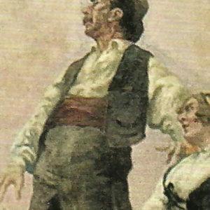Pintura mural del techo del Teatro Leal (detalle) 1915. Teatro Leal. La Laguna. Tenerife.