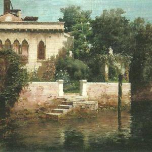 Paisaje de Venecia. Ca. 1880. Colección particular. Las Palmas de Gran Canaria.