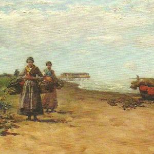 Playa de Venecia. 1881. Óleo sobre lienzo. 34x61 cm. Casa de Colón. Las Palmas de Gran Canaria.
