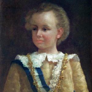 Rey niño Alfonso XIII 1890. Óleo sobre lienzo. 60x46,5 cm. Casa de Colón. Las Palmas de Gran Canaria.
