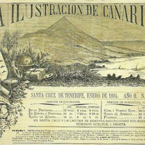 Encabezamiento de La ilustración de Canarias.|Grabado. Hemeroteca del Museo Canario. Las Palmas de Gran Canaria